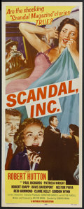 "Movie Posters:Crime, Scandal, Inc. (Republic, 1956). Insert (14"" X 36""). Crime. StarringRobert Hutton, Paul Richards, Patricia Wright, Robert Kn..."