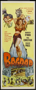 "Movie Posters:Adventure, Bagdad (Realart, R-1956). Insert (14"" X 36""). Adventure. StarringMaureen O'Hara, Paul Christian, Vincent Price and John Sut..."