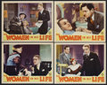 "Movie Posters:Crime, The Women in His Life (MGM, 1933). Lobby Cards (4) (11"" X 14"").Crime. Starring Otto Kruger, Una Merkel, Ben Lyon, Isabel Je...(Total: 4 Items)"