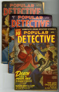Pulps:Detective, Popular Detective Group (Better Publications, 1946-51) Condition:Average VG.... (Total: 4)
