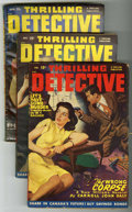 Pulps:Detective, Thrilling Detective Group (Better Publications, 1948-51) Condition: Average VG.... (Total: 3)