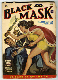 Black Mask V34#2 (Fictioneers Inc., 1950) Condition: VG