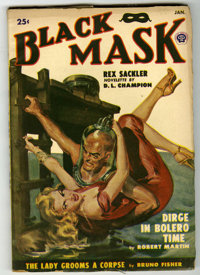 Black Mask V34#1 (Fictioneers Inc., 1950) Condition: VG