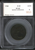 Additional Certified Coins: , 1794 1C Head of 1794 Cent XF45 Micro Corrosion SEGS (XF45 ...