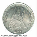 Errors: , 1877-S 25C Quarter--Struck 5% Off Center--MS64 PCGS. ...