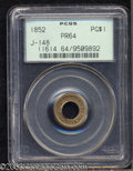 1852 PG$1 Gold Dollar, Judd-148, Pollock-176, R.6, PR64 PCGS. Simply designed with UNITED STATES OF AMERICA around the o...