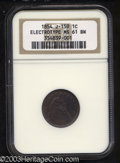 Patterns: , 1854 E1C Electrotype One Cent, Judd-159, Pollock-186, R.6-7,...