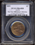 1855 P1C Flying Eagle Cent, Judd-173, Pollock-198, R.7, PR64 Red and Brown PCGS. Flying Eagle Cent pattern in large form...