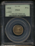 Patterns: , 1858 P1C Flying Eagle Cent, Judd-203, Pollock-247, R.5, ...