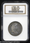 Patterns: , 1859 P50C Half Dollar, Judd-239, Pollock-295, R.5, PR62 NGC....