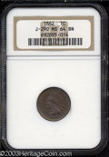 Patterns: , 1862 1C Cent, J-290, Pollock-348, R.8, MS64 Brown NGC. A ...