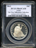1863 50C Half Dollar, Judd-342, Pollock-414, R.7, PR65 Cameo PCGS. Identical in design to the proof 1866 With Motto Seat...