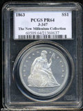 Patterns: , 1863 $1 Dollar, Judd-347, Pollock-419, R.7, PR64 PCGS. A ...