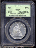 Patterns: , 1864 50C Half Dollar, Judd-393, Pollock-461, R.8, PR67 PCGS....