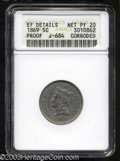 1869 5C Five Cents, Judd-684, Pollock-763, R.5--Corroded--ANACS. XF Details, Net PR20. An affordable example of this int...