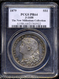 1879 $1 Schoolgirl Dollar, Judd-1608, Pollock-1804, R.6-7, PR64 PCGS. The legendary Schoolgirl pattern, struck in silver...