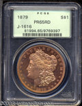 Patterns: , 1879 $1 Morgan Dollar, Judd-1616, Pollock-1812, R.6-7, ...