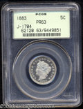 Patterns: , 1883 5C Liberty Head Five Cents, Judd-1704, Pollock-1908, R....