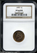 Proof Indian Cents: , 1892 PR 66 Red NGC. ...