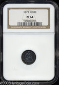 Proof Seated Half Dimes: , 1873 PR 64 NGC. ...
