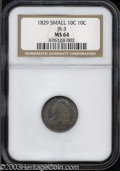 Bust Dimes: , 1829 Small 10C MS64 NGC. ...