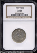 Seated Quarters: , 1851-O AU50 NGC. The current Coin Dealer Newsletter (...