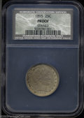 Proof Barber Quarters: , 1895 PR60 Details, Stained, NCS....