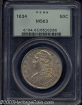 Bust Half Dollars: , 1834 Large Date, Large Letters MS63 PCGS. ...