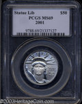 Modern Bullion Coins: , 2001 Half-Ounce Platinum Eagle MS69 PCGS. ...