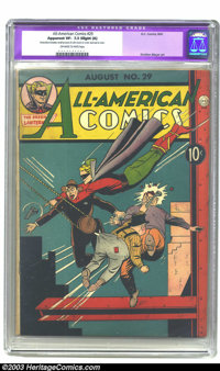 """All-American Comics #29 (DC, 1941) CGC Apparent VF- 7.5 Slight (A) Off-white to white pages. CGC notes:""""Restoration..."""