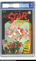Golden Age (1938-1955):Superhero, All Star Comics #30 (DC, 1946) CGC VF- 7.5 Off-white pages. The Justice Society of America; Joe Kubert and Martin Nodell art...