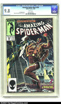 Amazing Spider-Man #293 (Marvel, 1987) CGC NM/MT 9.8 White pages. Highest grade yet given by CGC. Overstreet 2003 NM 9.4...