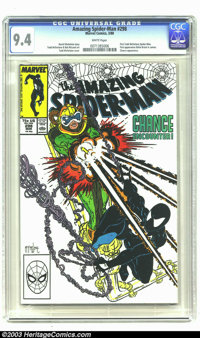 Amazing Spider-Man #298 (Marvel, 1988) CGC NM 9.4 White pages. David Michelinie story. Todd McFarlane and Bob McLeod art...
