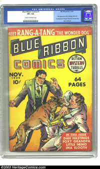 Blue Ribbon #1 (MLJ, 1939) CGC VF+ 8.5 Cream to off-white pages. First MLJ comic; first Dan Hastings, Richy the Amazing...