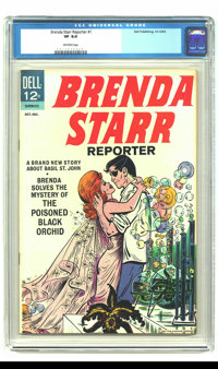 Brenda Starr #1 (Dell, 1963) CGC VF 8.0 Off-white pages. Obscure Dell. Overstreet 2003 VF 8.0 value = $122