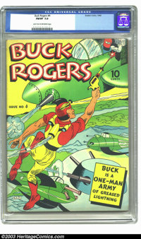 Buck Rogers #4 (Eastern Color, 1942) CGC FN/VF 7.0 Light tan to off-white pages. Overstreet 2003 FN 6.0 value = $333; VF...