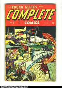 Complete Comics #2 (Timely, 1945) Condition: GD/VG. Alex Schomburg cover. Young Allies, the Destroyer, the Whizzer appea...
