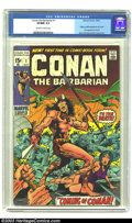 Bronze Age (1970-1979):Miscellaneous, Conan The Barbarian #1 (Marvel, 1970) CGC VF/NM 9.0 Off-white towhite pages. Overstreet 2002 NM 9.4 value = $300....