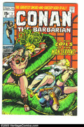 Bronze Age (1970-1979):Superhero, Conan The Barbarian #7 (Marvel, 1971) Condition: VF+. Art by Barry Windsor Smith. Overstreet 2003 VF 8.0 value = $34; VF/NM ...