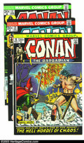 Bronze Age (1970-1979):Miscellaneous, Conan The Barbarian Group (Marvel, 1972-74) Condition: Average VF+.Nice group of three issues -- #15, 21, and 37. Art by Ba... (Total:3 Comic Books Item)