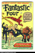 Silver Age (1956-1969):Superhero, Fantastic Four #4 (Marvel, 1962) Condition: GD/VG. First Silver Age Sub-Mariner appearance. Jack Kirby art; book is signed b...