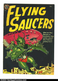 Flying Saucers nn (Avon, 1952) Condition: Apparent VG. Wally Wood art. Tape on back cover; color touch on cover. Overstr...