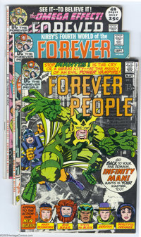 The Forever People Group (DC, 1971-72) Condition: Average VF. This lot consists of issues #2, 4, 6, 7, and 9. Fourth Wor...