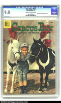 Silver Age (1956-1969):Miscellaneous, Four Color #813 Circus Boy (Dell, 1957) CGC VF/NM 9.0 Cream to off-white pages. Future Monkee Mickey Dolenz poses with a cou...