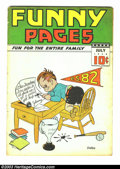 Golden Age (1938-1955):Miscellaneous, Funny Pages V2#9 (Centaur, 1938) Condition: VG-. Charles Biro cover. Overstreet 2003 VG 4.0 value = $126. ...