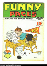 Funny Pages V2#9 (Centaur, 1938) Condition: VG-. Charles Biro cover. Overstreet 2003 VG 4.0 value = $126