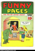 Golden Age (1938-1955):Miscellaneous, Funny Pages V2#7 (Centaur, 1938) Condition: GD+. Cover detached. Overstreet 2003 GD 2.0 value = $63. ...