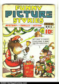Platinum Age (1897-1937):Miscellaneous, Funny Picture Stories V2#4 (Comics Magazine, 1937) Condition: GD.Christmas cover. Cover detached. Overstreet 2003 GD 2.0 va...