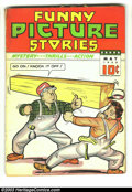 Golden Age (1938-1955):Miscellaneous, Funny Picture Stories v2 #8 (Comics Magazine, 1938) Condition: FR. No back cover. Overstreet 2003 GD 2.0 value = $46....
