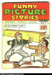 Funny Picture Stories v2 #8 (Comics Magazine, 1938) Condition: FR. No back cover. Overstreet 2003 GD 2.0 value = $46